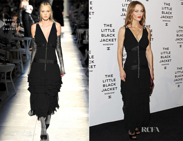 Vanessa Paradis In Chanel Couture Karl Lagerfeld The Little Black