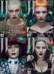 Keira Knightley, Mia Wasikowska, Rooney Mara & Scarlett Johansson For W's 40th Anniversary Covers