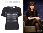 Zooey Deschanel's Girl by Band of Outsiders Woven Blouse