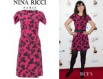 Zooey Deschanel's Nina Ricci Silk Sheath Dress