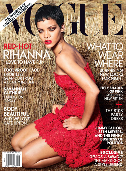 Rihanna for Vogue November 2012