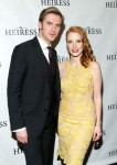 Dan Stevens in  Ralph Lauren Black Label and Jessica Chastain in Stella McCartney