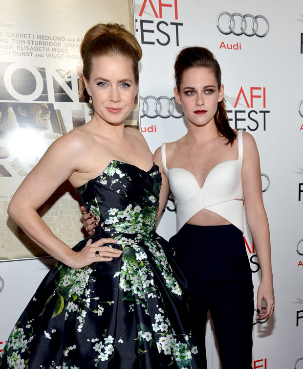 Amy Adams in Dolce & Gabbana and Kristen Stewart in Balenciaga