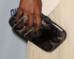 Mindy Kaling's Rebecca Minkoff 'Summer Python' minaudiere and ring