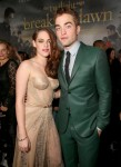 Kristen Stewart in Zuhair Murad and Robert Pattinson in Gucci