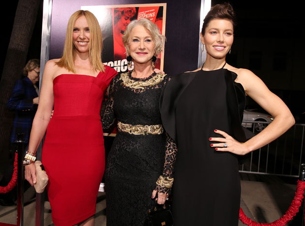 Toni Collette in Alex Perry, Helen Mirren in Dolce & Gabbana and Jessica Biel in Gucci