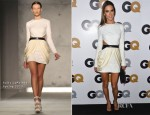 Alessandra Ambrosio In Sally LaPointe - 2012 GQ Men of the Year Party