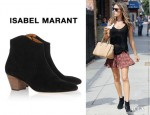 Alessandra Ambrosio's Isabel Marant Dicker Ankle Boots