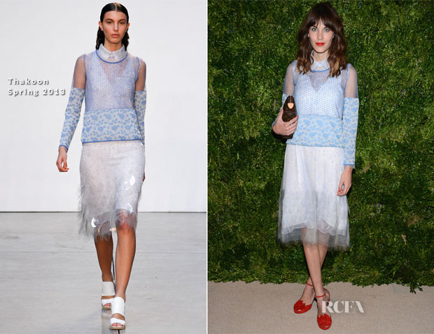 Alexa Chung In Thakoon - 2012 CFDAVogue Fashion Fund Awards copy