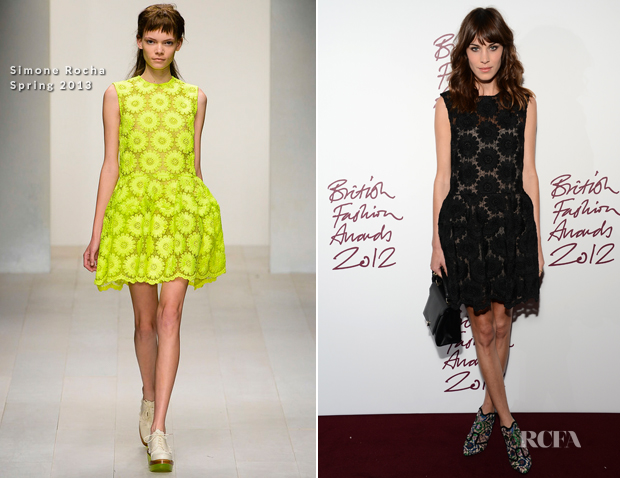 Alexa Chung Simone Rocha Spring 2013 - 2012 British Fashion Awards