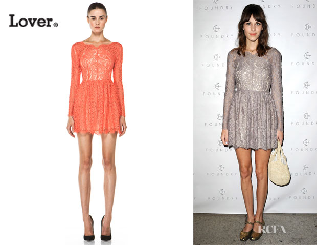 Alexa Chung's Lover Millie Lace Dress