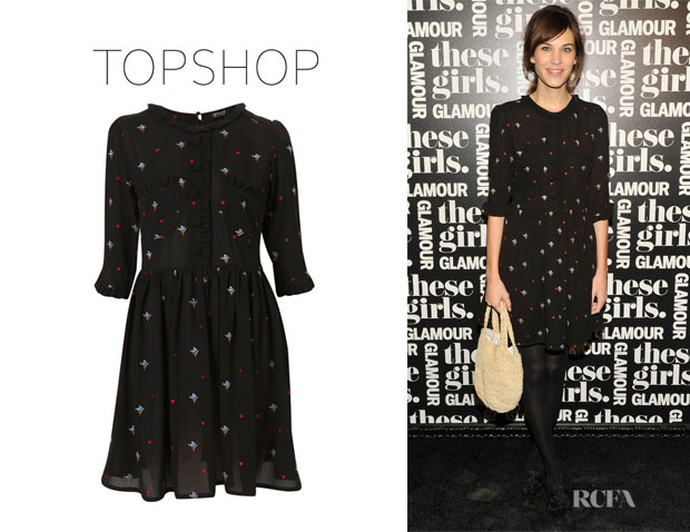 Alexa Chung's Topshop Floral Embroidered Tea Dress