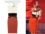 Alicia Keys' Giambattista Valli Colour Block Dress