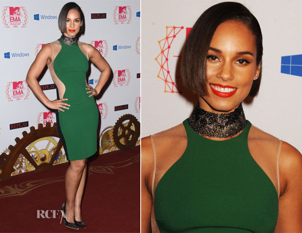 Alicia Keys In Stella McCartney - 2012 MTV EMAs
