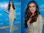 Allison Williams In Naeem Khan - UNICEF Snowflake Ball