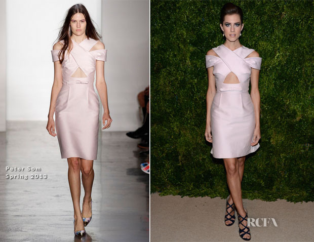 Allison Williams In Peter Som - 2012 CFDAVogue Fashion Fund Awards