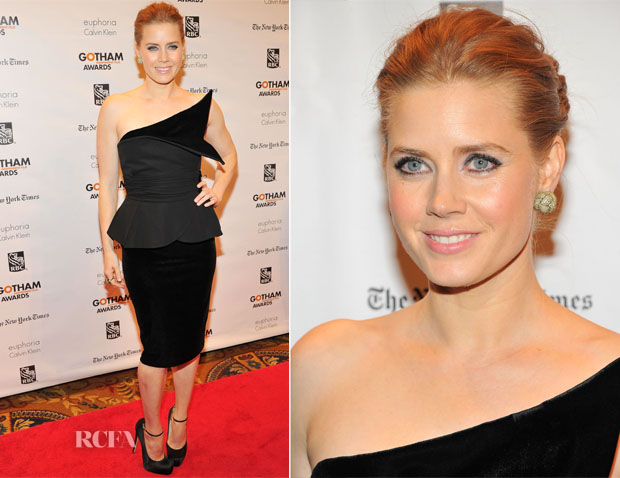 Amy Adams In Giorgio Armani - 2012 Gotham Independent Film Awards