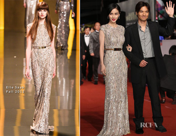 Angelababy In Elie Saab - 2012 Golden Horse Awards