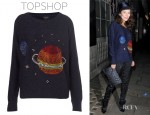 Anna Friel's Topshop Crystal Planet Jumper