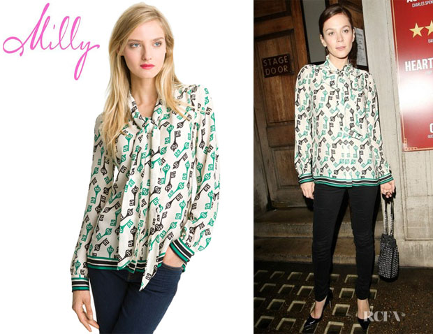 Anna Friel's Milly Silk Blouse