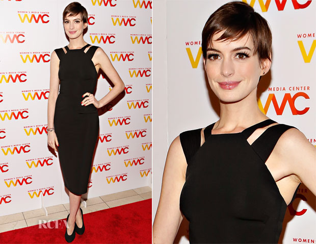 Anne Hathaway In Victoria Beckham - 2012 Women's Media Awards