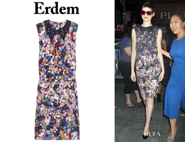 Anne Hathaway's Erdem Loreali Silk Dress