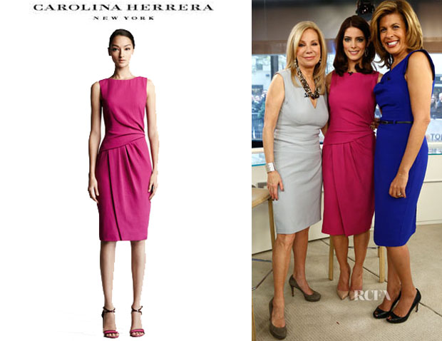 Ashley Greene's Carolina Herrera Draped Crepe Dress