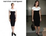 Ashley Greene's Narciso Rodriguez Cap-Sleeve Dress