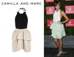 Ashley Madekwe's Camilla and Marc Wren Georgette Backless Dress