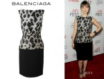 Bella Heathcote's Balenciaga Pixelated Snake Printed Dress