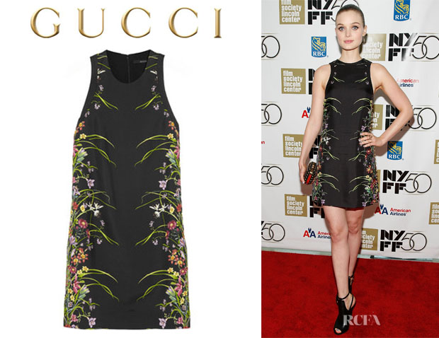 Bella Heathcote's Gucci Floral Print Mini Dress