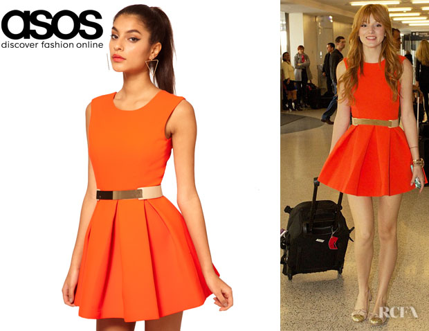 Bella Thorne's Aqua Floyd Skater Dress