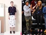 Beyonce Knowles In Stella McCartney - New York Knicks vs. Brooklyn Nets Game