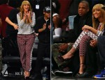 Beyonce Knowles In Tibi - Toronto Raptors vs Brooklyn Nets