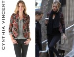 Blake Lively's Twelfth St. by Cynthia Vincent Shawl Collar Ikat Blazer