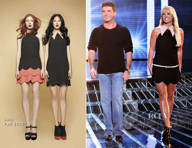 Britney Spears In Lulu - 'The X Factor' Season 2 Top 16 To 12 Live Elimination Show