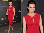 Carla Gugino In Diane von Furstenberg - 'The Performers' Opening Night