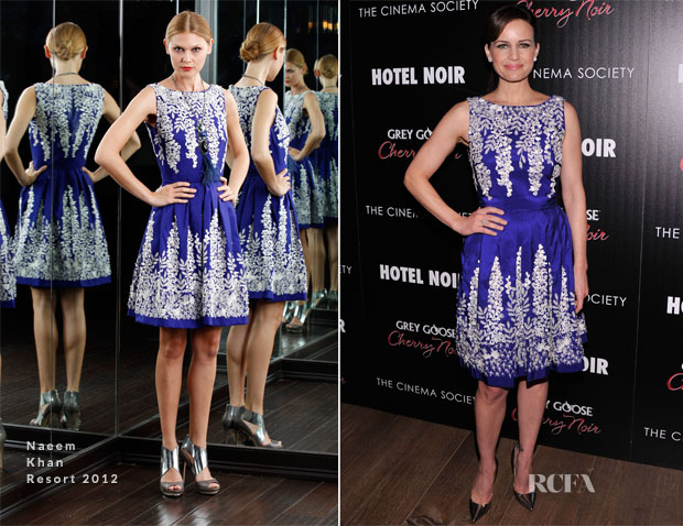 Carla Gugino In Naeem Khan - 'Hotel Noir' New York Screening