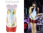 Carly Rae Jepsen's Topshop By Louise Gray Flash Face Sequin Dress