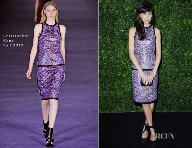 Caroline Sieber In Christopher Kane - London Evening Standard Theatre Awards