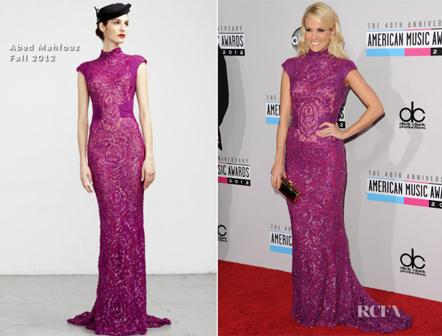 Carrie Underwood In Abed Mahfouz -  2012 American Music Awards