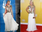 Carrie Underwood In Reem Acra - 2012 CMA Awards