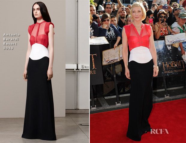 Cate Blanchett In Antonio Berardi - 'The Hobbit An Unexpected Journey' World Premiere