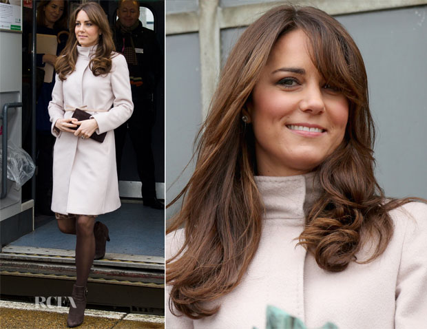 Catherine, Duchess of Cambridge In Max Mara - Cambridge and Peterborough Official Visit