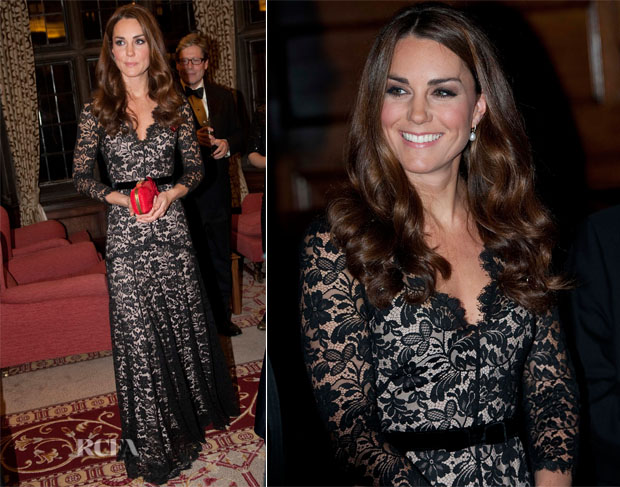 Catherine, Duchess of Cambridge In Temperley London - University of St Andrews 600th Anniversary Appeal Dinner