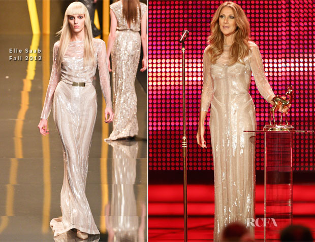 Celine Dior In Elie Saab - 2012 Bambi Awards