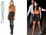 Cheryl Cole's Thakoon Addition Quilted Leather Combo Dress