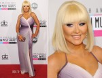 Christina Aguilera In Pamella Roland - 2012 American Music Awards