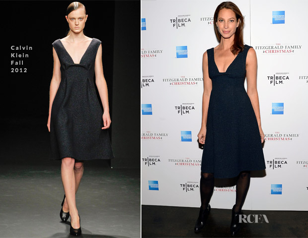 Christy Turlington In Calvin Klein - 'The Fitzgerald Family Christmas' New York Screening