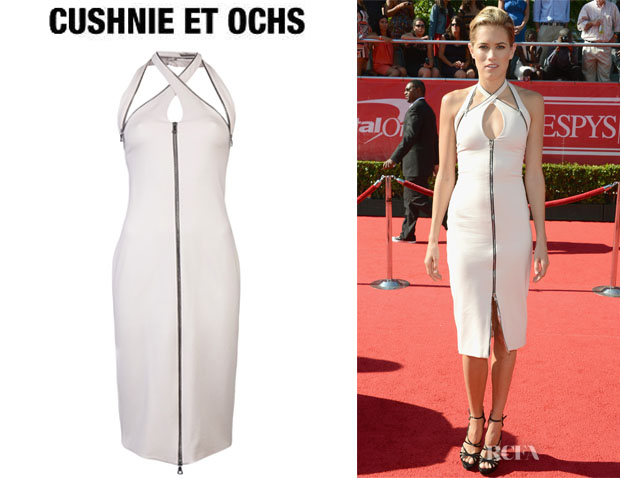 Cody Horn's Cushnie Et Ochs Zip Halter Dress